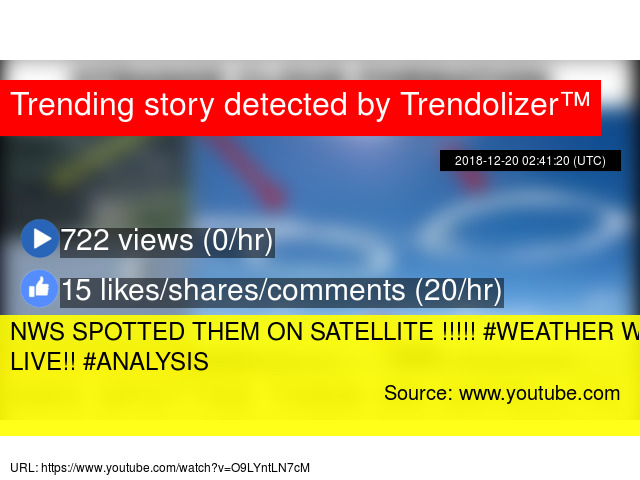 NWS SPOTTED THEM ON SATELLITE !!!!! #WEATHER WARFARE LIVE