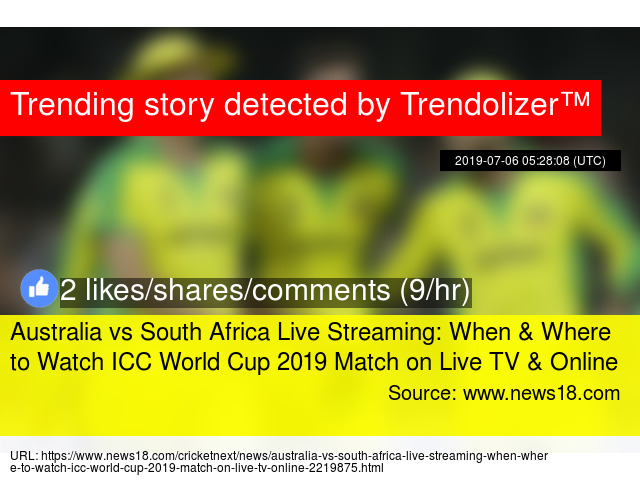 Australia vs South Africa Live Streaming: When & Where to