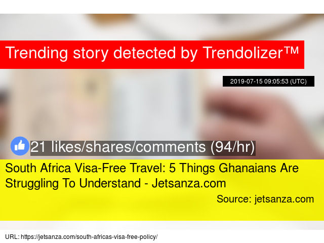 South Africa Visa-Free Travel: 5 Things Ghanaians Are