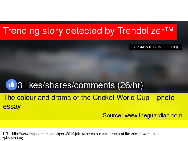 The colour and drama of the Cricket World Cup – photo essay