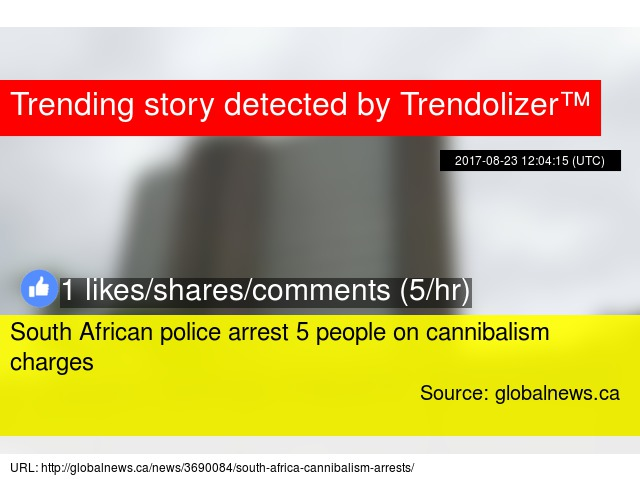 South African police arrest 5 people on cannibalism charges
