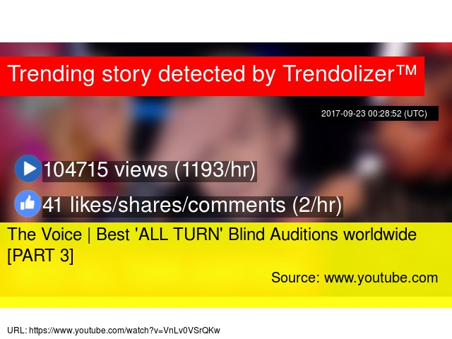 The Voice | Best 'ALL TURN' Blind Auditions worldwide [PART 3]
