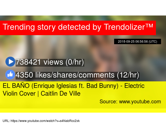 EL BAÑO (Enrique Iglesias ft  Bad Bunny) - Electric Violin